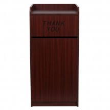 Flash Furniture MT-M8520-TRA-MAH-GG Wood Tray Top Mahogany Finish Trash Receptacle addl-2