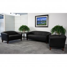 Flash Furniture 111-2-BK-GG Hercules Imperial Series Black Leather Love Seat addl-1
