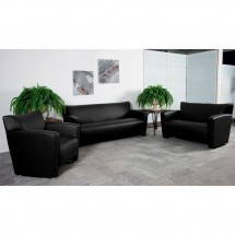 Flash Furniture 222-2-BK-GG HERCULES Majesty Series Black Leather Love Seat addl-2