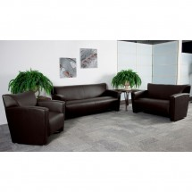 Flash Furniture 222-SET-BN-GG HERCULES Majesty Series Contemporary Reception Set in Brown addl-1