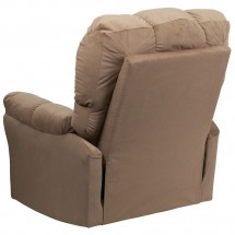 Flash Furniture AM-9320-4172-GG Contemporary Top Hat Coffee Microfiber Rocker Recliner addl-1