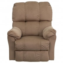 Flash Furniture AM-9320-4172-GG Contemporary Top Hat Coffee Microfiber Rocker Recliner addl-2