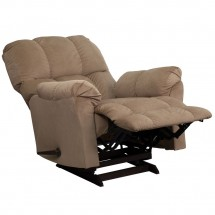 Flash Furniture AM-9320-4172-GG Contemporary Top Hat Coffee Microfiber Rocker Recliner addl-3