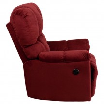 Flash Furniture AM-P9320-4170-GG Contemporary Top Hat Berry Microfiber Power Recliner addl-1