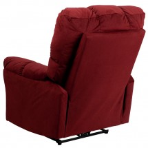 Flash Furniture AM-P9320-4170-GG Contemporary Top Hat Berry Microfiber Power Recliner addl-2