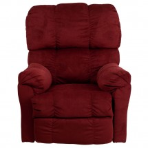 Flash Furniture AM-P9320-4170-GG Contemporary Top Hat Berry Microfiber Power Recliner addl-3