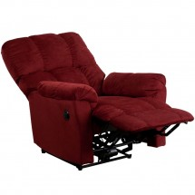 Flash Furniture AM-P9320-4170-GG Contemporary Top Hat Berry Microfiber Power Recliner addl-4
