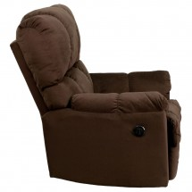 Flash Furniture AM-P9320-4171-GG Contemporary Top Hat Chocolate Microfiber Power Recliner addl-1