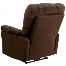 Flash Furniture AM-P9320-4171-GG Contemporary Top Hat Chocolate Microfiber Power Recliner addl-2