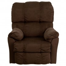 Flash Furniture AM-P9320-4171-GG Contemporary Top Hat Chocolate Microfiber Power Recliner addl-3