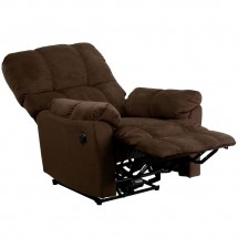 Flash Furniture AM-P9320-4171-GG Contemporary Top Hat Chocolate Microfiber Power Recliner addl-4