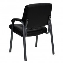 Flash Furniture BT-1404-BKGY-GG Black Leather Executive Side Chair with Titanium Frame Finish addl-2