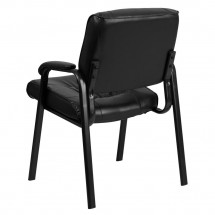 Flash Furniture BT-1404-GG Black Leather Guest / Reception Chair with Black Frame Finish addl-2