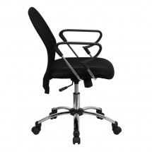 Flash Furniture BT-215-GG Mid-Back Black Mesh Task Chair with Chrome Base addl-1