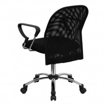 Flash Furniture BT-215-GG Mid-Back Black Mesh Task Chair with Chrome Base addl-2