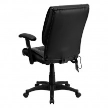Flash Furniture BT-2770P-GG Mid-Back Massaging Black Leather Executive Office Chair addl-2