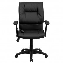 Flash Furniture BT-2770P-GG Mid-Back Massaging Black Leather Executive Office Chair addl-3