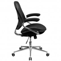 Flash Furniture BT-2779-GG Mid-Back Black Mesh Task Chair with Chrome Base addl-1
