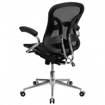 Flash Furniture BT-2779-GG Mid-Back Black Mesh Task Chair with Chrome Base addl-2