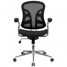 Flash Furniture BT-2779-GG Mid-Back Black Mesh Task Chair with Chrome Base addl-3