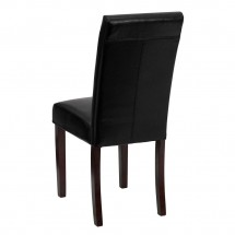 Flash Furniture BT-350-BK-LEA-023-GG Black Leather Upholstered Parsons Chair addl-2