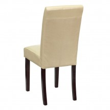 Flash Furniture BT-350-IVORY-050-GG Ivory Leather Upholstered Parsons Chair addl-2