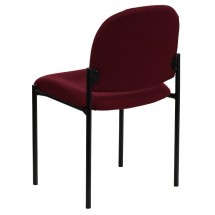 Flash Furniture BT-515-1-BY-GG Burgundy Fabric Comfortable Stackable Steel Side Chair addl-2