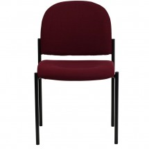 Flash Furniture BT-515-1-BY-GG Burgundy Fabric Comfortable Stackable Steel Side Chair addl-3