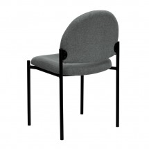 Flash Furniture BT-515-1-GY-GG Gray Fabric Comfortable Stackable Steel Side Chair addl-2