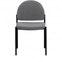 Flash Furniture BT-515-1-GY-GG Gray Fabric Comfortable Stackable Steel Side Chair addl-3