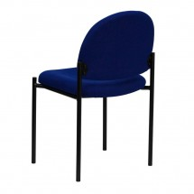 Flash Furniture BT-515-1-NVY-GG Navy Fabric Comfortable Stackable Steel Side Chair addl-2