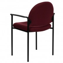 Flash Furniture BT-516-1-BY-GG Burgundy Fabric Comfortable Stackable Steel Side Chair with Arms addl-2