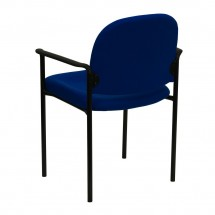 Flash Furniture BT-516-1-NVY-GG Navy Fabric Comfortable Stackable Steel Side Chair with Arms addl-2
