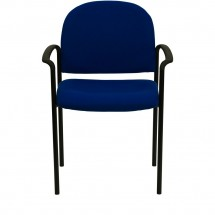 Flash Furniture BT-516-1-NVY-GG Navy Fabric Comfortable Stackable Steel Side Chair with Arms addl-3