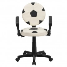 Flash Furniture BT-6177-SOC-A-GG Soccer Task Chair with Arms addl-3