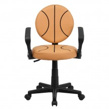 Flash Furniture BT-6178-BASKET-A-GG Basketball Task Chair with Arms addl-3