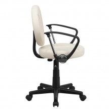 Flash Furniture BT-6179-BASE-A-GG Baseball Task Chair with Arms addl-1