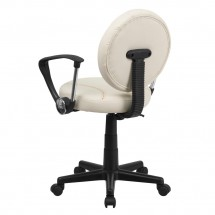 Flash Furniture BT-6179-BASE-A-GG Baseball Task Chair with Arms addl-2