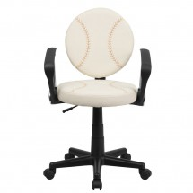 Flash Furniture BT-6179-BASE-A-GG Baseball Task Chair with Arms addl-3