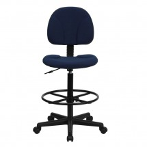 Flash Furniture BT-659-NVY-GG Navy Blue Patterned Fabric Ergonomic Drafting Stool addl-3