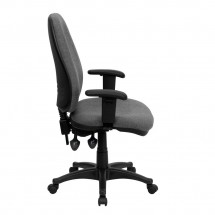 Flash Furniture BT-661-GR-GG High Back Gray Fabric Executive Chair with Height Adjustable Arms addl-1