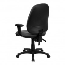 Flash Furniture BT-661-GR-GG High Back Gray Fabric Executive Chair with Height Adjustable Arms addl-2