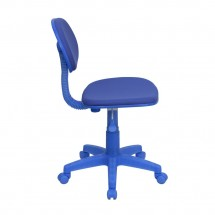 Flash Furniture BT-698-BLUE-GG Blue Fabric Ergonomic Task Chair addl-1