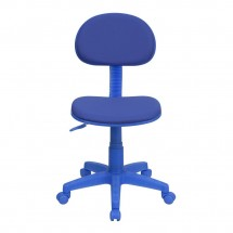 Flash Furniture BT-698-BLUE-GG Blue Fabric Ergonomic Task Chair addl-3