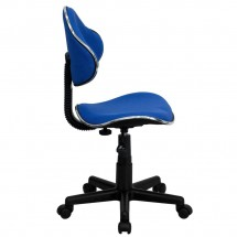 Flash Furniture BT-699-BLUE-GG Blue Fabric Ergonomic Task Chair addl-1