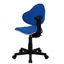 Flash Furniture BT-699-BLUE-GG Blue Fabric Ergonomic Task Chair addl-2