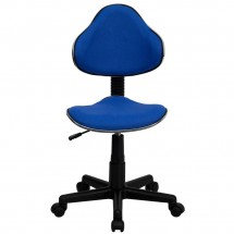 Flash Furniture BT-699-BLUE-GG Blue Fabric Ergonomic Task Chair addl-3