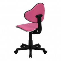 Flash Furniture BT-699-PINK-GG Pink Fabric Ergonomic Task Chair addl-2