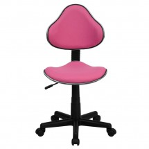 Flash Furniture BT-699-PINK-GG Pink Fabric Ergonomic Task Chair addl-3
