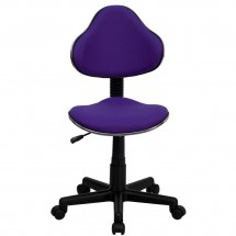 Flash Furniture BT-699-PURPLE-GG Purple Fabric Ergonomic Task Chair addl-3